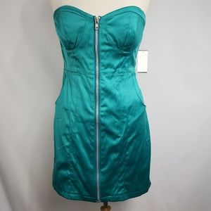 Love Tease Strapless Zippered Fitted Club Dress
